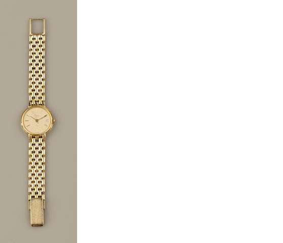 Asprey: A lady's 14ct gold wristwatch