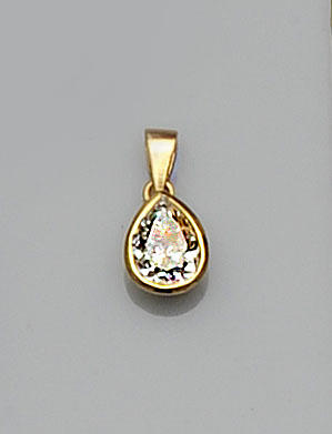 A diamond single stone pendant