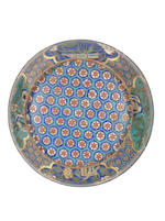 A fine large cloisonné enamel circular box and cover 18th century