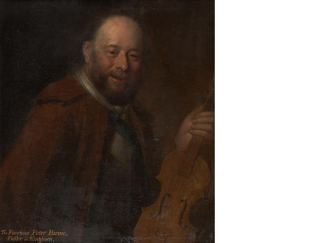 Attributed to William Aikman (Forfar 1682-1731 London) Patie Birnie, the Fiddler of Kinghorn 76 x 63 cm. (29 15/16 x 24 13/16 in.)
