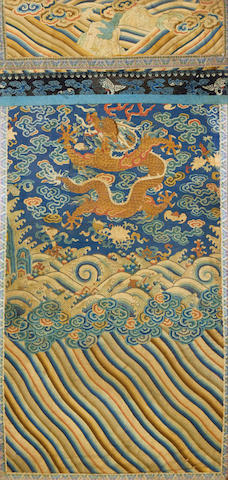 A reduced 'dragon' textile 19th or 20th century