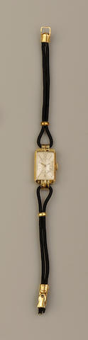 Jaeger Le Coultre: A lady's Art Deco style wristwatch