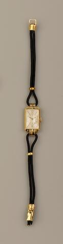 Jaeger Le Coultre: A lady's Art Deco style wristwatch