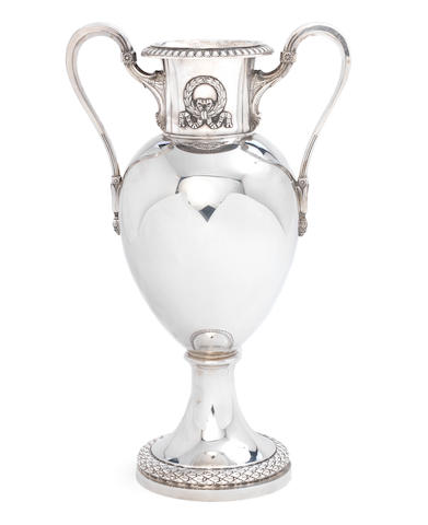 A mid-20th century German silver vase retailed by Frugoni