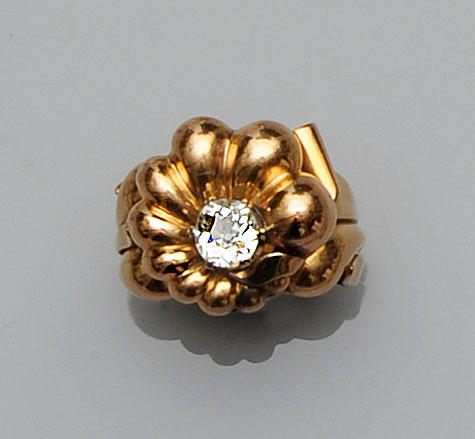 A diamond single stone dress ring,