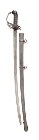 A Rifle Officer's Regimental Sword of the Flintshire Rifles