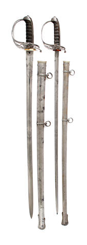 A Pair of Rifle Officer's Swords Owned by The Hon. G.O.M. Bridgeman