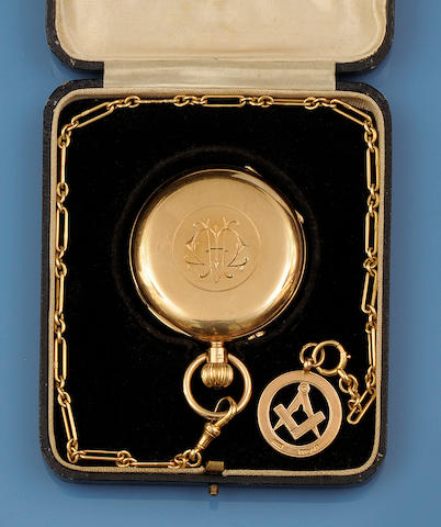 J W Benson: A 9ct gold pocket watch