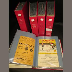A complete collection of 1960/61 to 1964/65 Barnsley football programmes