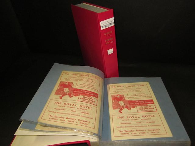 A complete collection of 1955/56 and 1956/57 Barnsley home and away football programmes