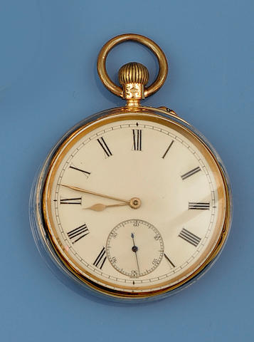 Chas Freeman, Crouch End: An 18ct gold open face pocket watch