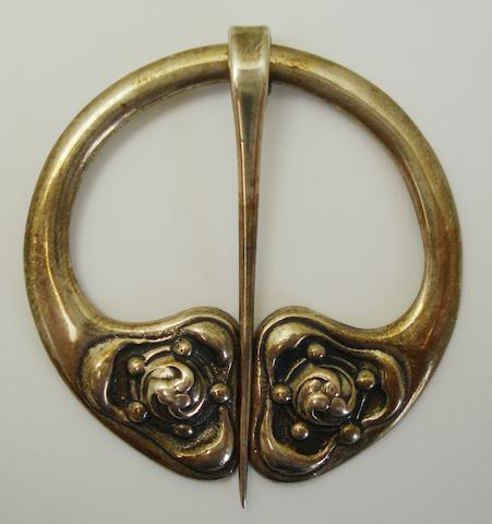 A silver penannular brooch, by Alexander Ritchie