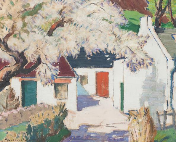 John MacLauchlan Milne, RSA (British, 1886-1957) Springwell, Corrie, Isle of Arran 51 x 61cm. (20 1/16 x 24in.)