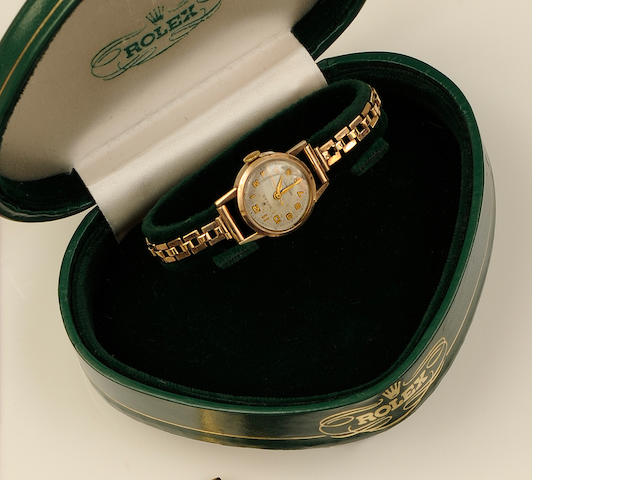 Rolex: A 9ct gold lady's wristwatch