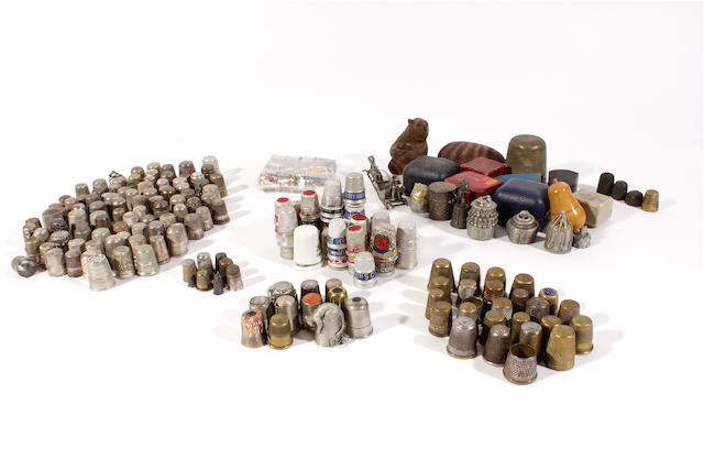 A large mixed group of thimbles