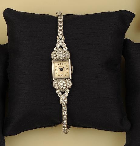 A diamond cocktail watch, by Gruen