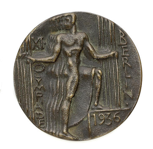Participant's Medal The medal, of circular form, by Otto Placzek, 1936