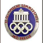 International Press Pin Badge