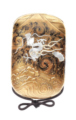 A gold lacquer four-case inro 19th century