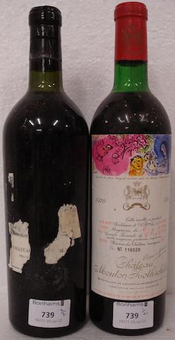 Chateau Cheval Blanc believed 1955, UK Berry Bros (1)  Chateau Mouton Rothschild 1970 (1)