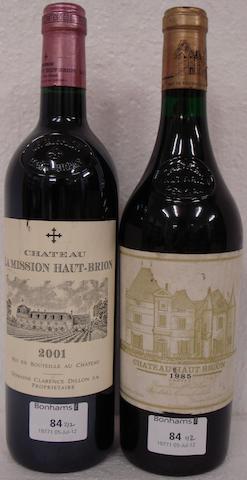 Château Haut-Brion 1985 (1)<BR />Château La Mission Haut-Brion  2001 (1)