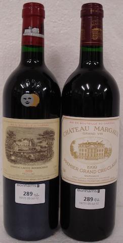 Chateau Lafite Rothschild 1999 (1)  Chateau Margaux 1999 (1)