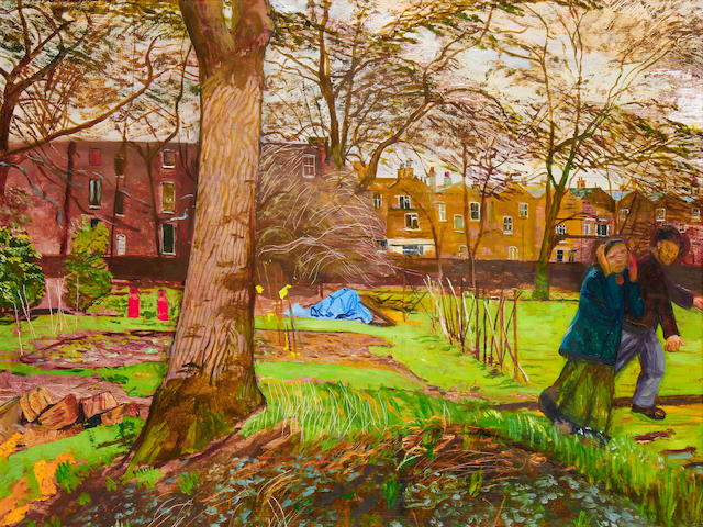 Carel Weight R.A. (British, 1908-1997) 'Chelsea Garden'