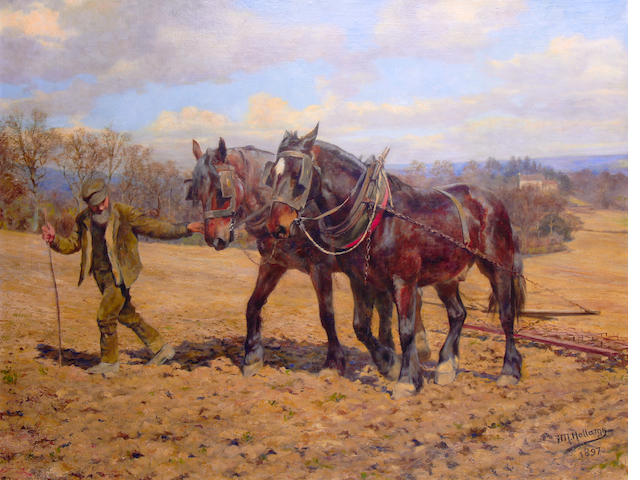 Frances Mabel Hollams (British, 1877-1963) The plough team