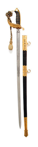 An 1827 Pattern Warrant Officer or Master at Arms Sword