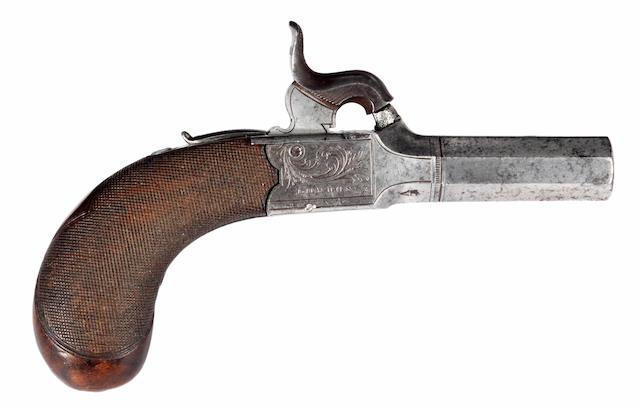 A Percussion Boxlock Pocket Pistol
