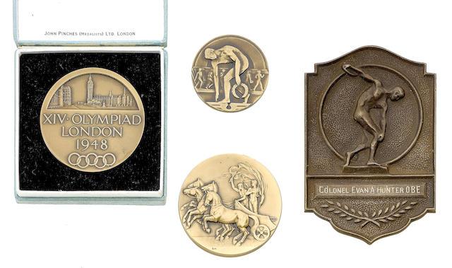 Evan Hunter - Medals, London 1948
