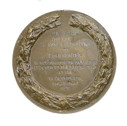 Evan Hunter - Bronze Presentation Medal