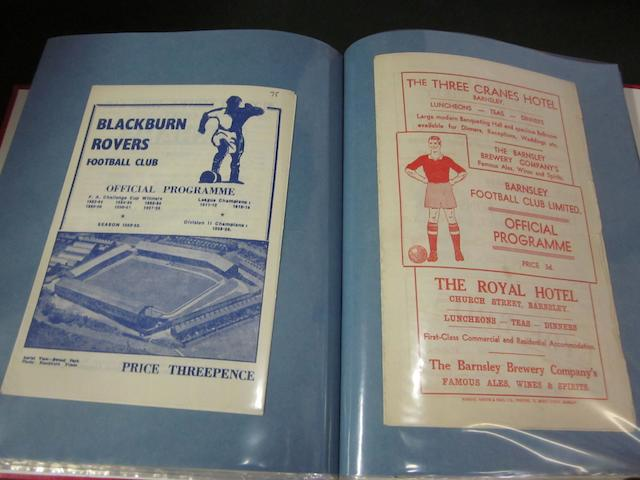 A complete collection of 1952/53 Barnsley home and away football programmes