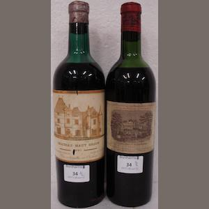Chateau Haut-Brion 1940 (1). Chateau Lafite Rothschild 1961 (1)