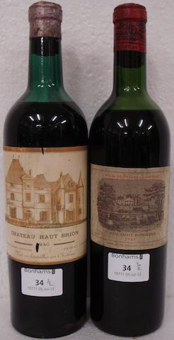 Chateau Haut-Brion 1940 (1)  Chateau Lafite Rothschild 1961 (1)