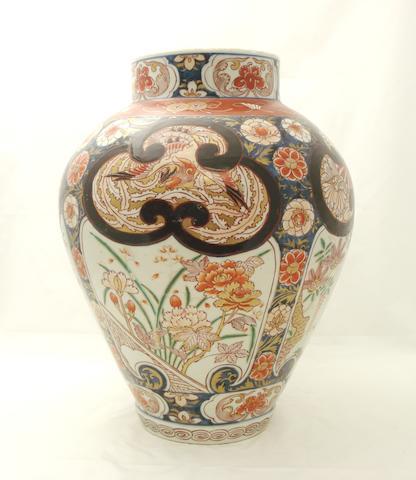 A large Imari vase 18th century