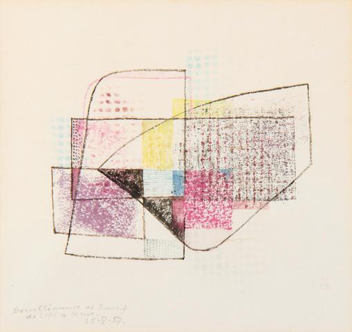 Kurt Lewy - abstract mixed media