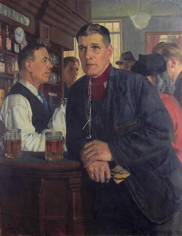 Michael Gilbery (British, 1913-2000) The Dart Player