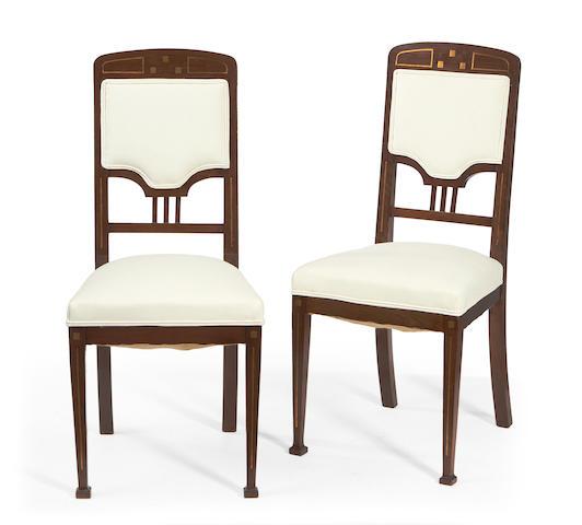 A set of four Austrian Jugendstil chairs