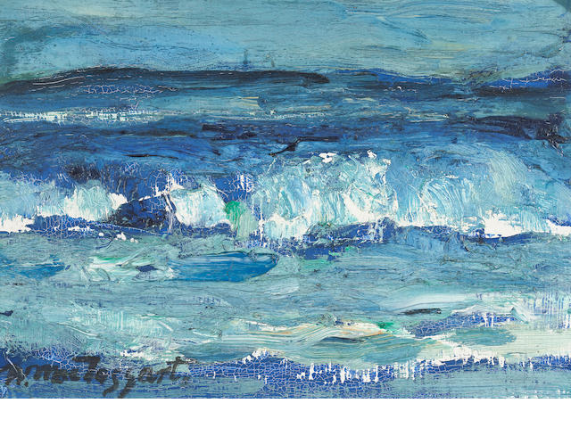 Sir William MacTaggart, PPRSA RA FRSE HonRSW LLD (British, 1903-1981) An Offshore Wind 17.8 x 25.3cm. (7 x 9 15/16 in.)