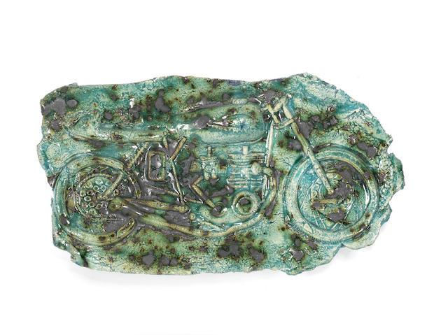 Grayson Perry 'Motorbike' ceramic