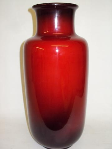 A Royal Doulton flambe vase