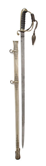 An 1821 Pattern Artillery Officer's Presentation Sword
