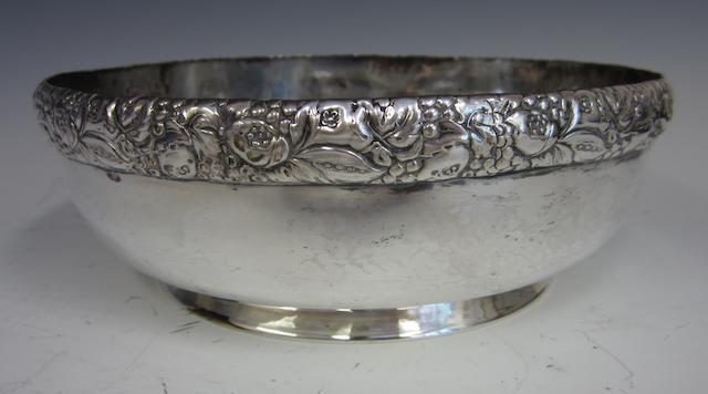 A German silver bowl by Bruckmann and Sohne, Heilbronn 1805-1973