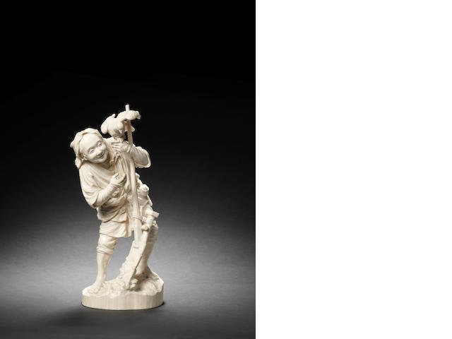 A Tokyo School ivory figure of a peasant By Shozan, Meiji Period