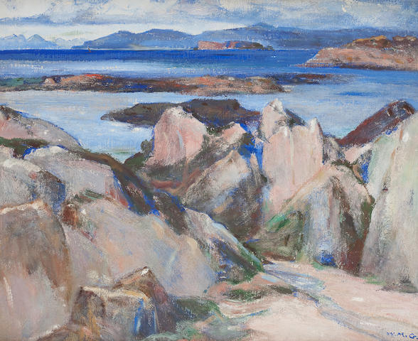 William Mervyn Glass, RSA PSSA (British, 1885-1965) Hebridean Shores 37 x 44.5 cm. (14 9/16 x 17 1/2 in.)