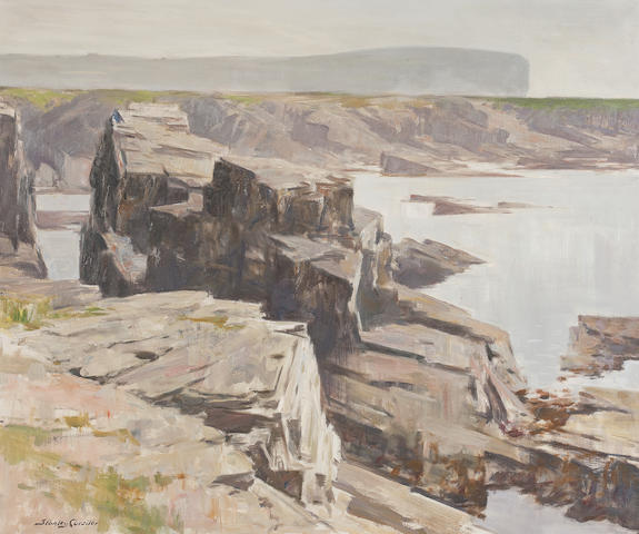 Stanley Cursiter, CBE RSA RSW (British, 1887-1976) North Shore, Birsay  63.5 x 76.5cm. (25 x 30 1/8in.)