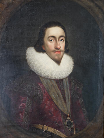 Follower of Daniel Mytens (?Delft 1590-1644 The Hague) Portrait of Charles I, half-length,