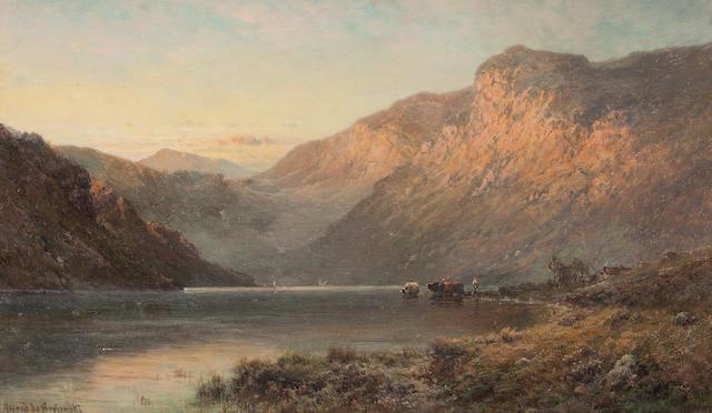 Alfred de Bréanski Snr. (British, 1852-1928) Near Inversnaid NB 30 x 50 cm. (11 13/16 x 19 11/16 in.)