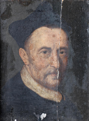 French School, early 17th Century Portrait of a cleric, said to be Cardinal Salviati